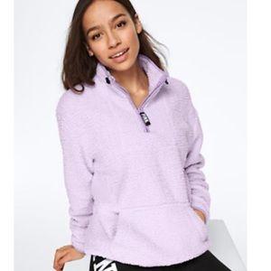Victoria's Secret Sherpa Pullover Lilac